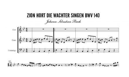 """Cantata BWV 140, Coral """"Zion hoert die Waechter singen"""", J.S.Bach"""