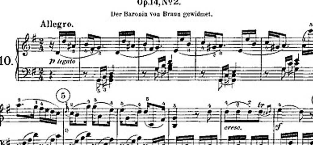 Presto agitato de la Sonata nº14 en do sostenido menor, Op. 27 nº2, de Ludwig van Beethoven
