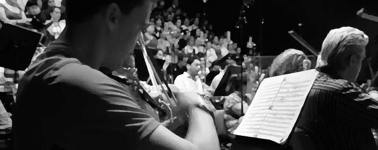 Los ensayos previos al concierto sinfónico