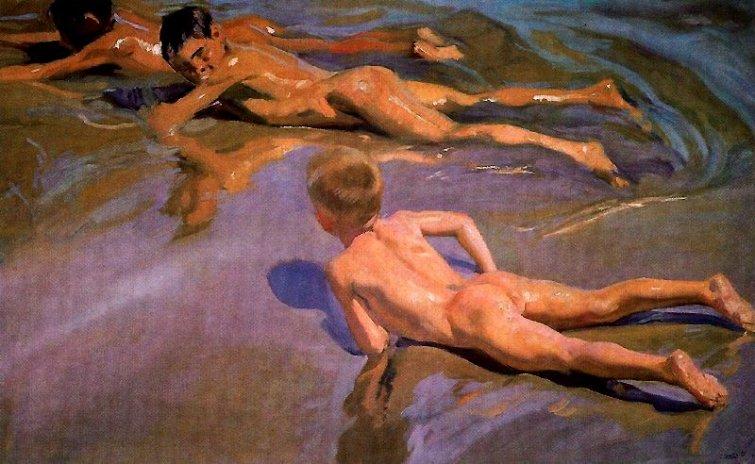 Joaquín Sorolla, niños en la playa